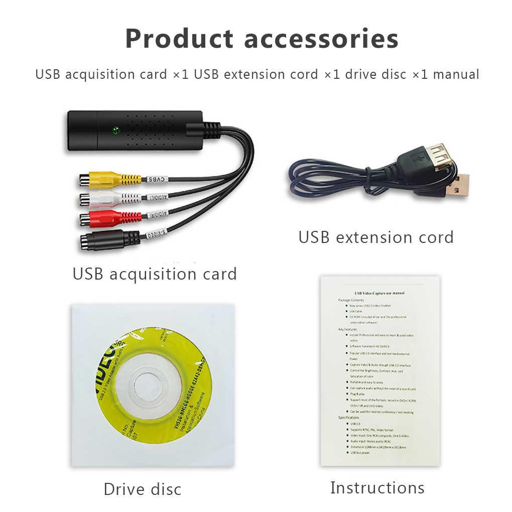 USB 2.0 Mudah Cap TV Video DVD VHS DVR Menangkap Kartu Lebih Mudah Cap USB Video Capture Dukungan Perangkat Win10 Menangkap kartu