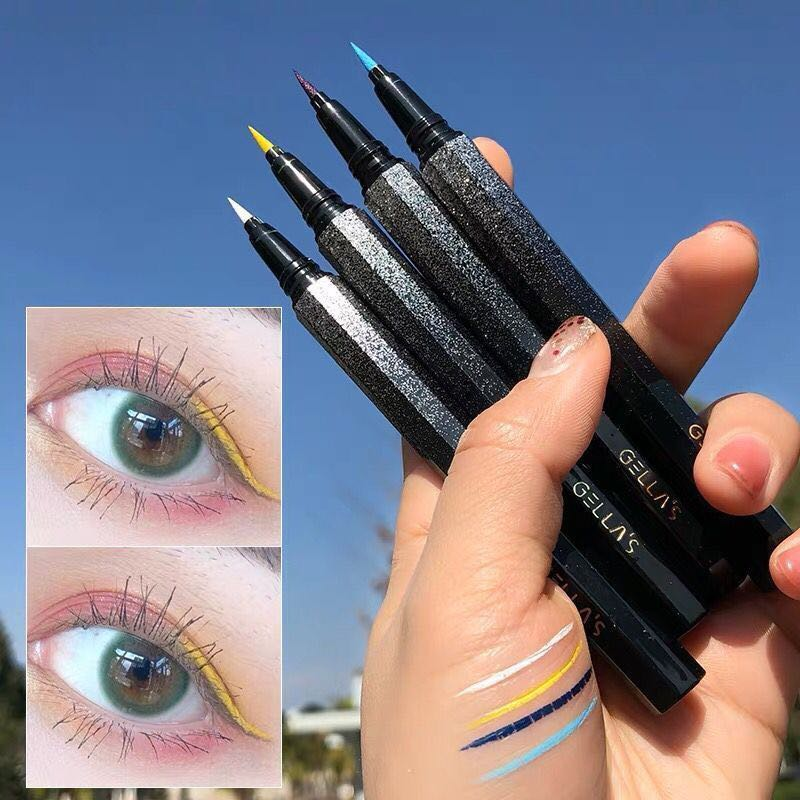 Красочный Матовый жидкий корейский карандаш для глаз водостойкий макияж, жидкий подводка для глаз Синий Зеленый Желтый Красный подводка для глаз Косметическая ручка|Тени для век и подводки|   | АлиЭкспресс