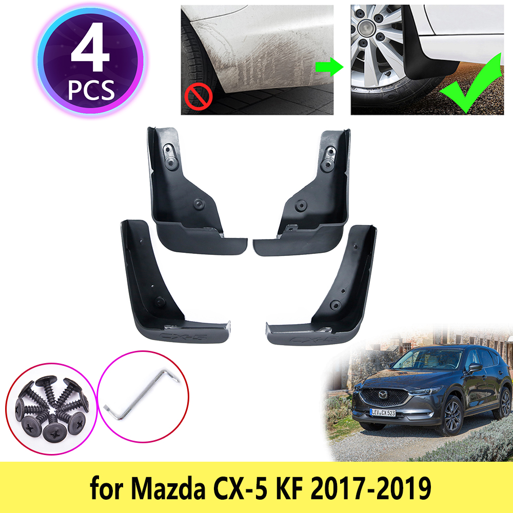 for <font><b>Mazda</b></font> <font><b>CX</b></font>-<font><b>5</b></font> CX5 <font><b>CX</b></font> <font><b>5</b></font> KF 2017 <font><b>2018</b></font> 2019 MK2 Mudguards Mudflaps Fender Guards Splash Mud Flaps Cladding Wheel Car <font><b>Accessories</b></font> image