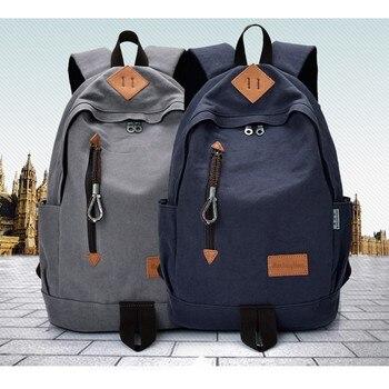 Outdoor Hiking Pig Snout Canvas Backpack Japanese Restoring Ancient Travel Rucksack Boys School Bag Metal Zipper Shoulders Bag