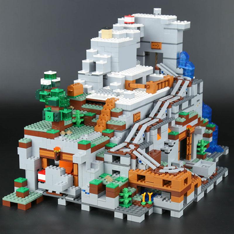 2304PCS Mein Welten Die Mountainglys Cave SPIELZEUG Kompatibel Legoinglys Stadt 21137 Stapeln Block Modell Gebäude Kit Blöcke Ziegel - 2