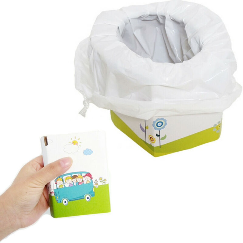 New Portable Folding Toilet Infant Kids Child Potty Training Toilet Seat Car Travel Camping Bearing Weight 50kg