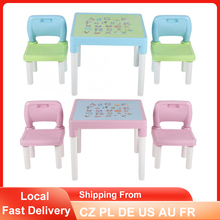 Desk Chair-Set Plastic Table Learning-Studying Home Childrens Kindergarten Kids And