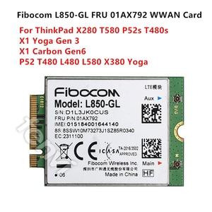 Image 1 - 4G LTE Sans Fil Module Fibocom L850 GL M.2 Carte FRU 01AX792 Lenovo ThinkPad X1 Carbone Gen6 X280 T580 T480s L480 X1 Yoga Gen 3