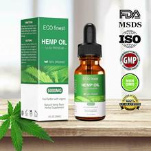 100% 30ml Organic Hemp Oil for Pain Relief Sleep Aid Anti Stress 5000mg Extract Drops Facial Body Skin Care Help
