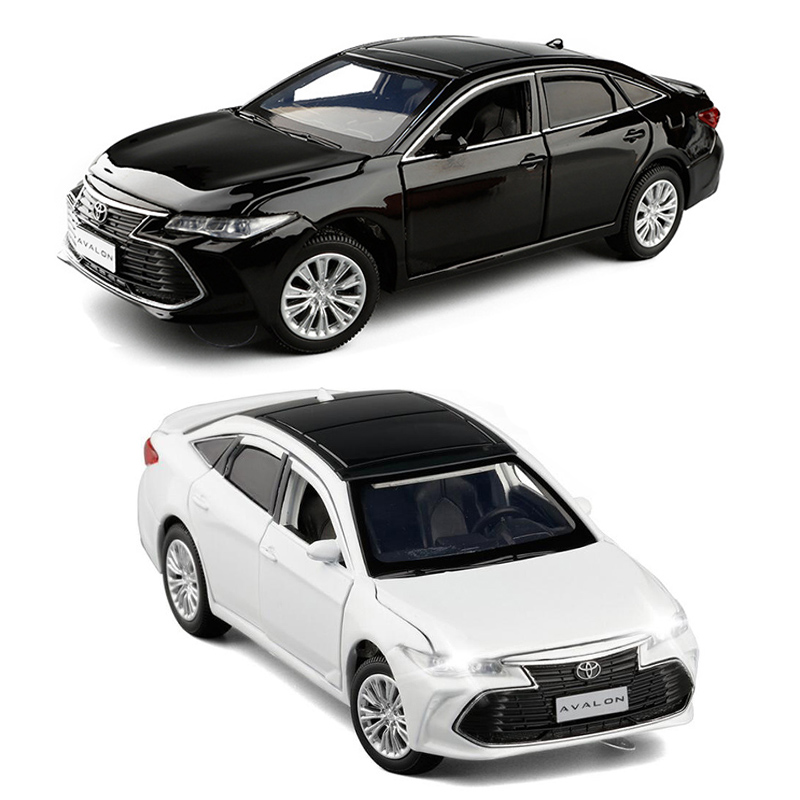 1/32 Scale High Simulation Toyota Black White Model Car Diecast Metal Vehicle Toy Collection Display Children Gift V245