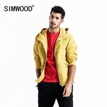SIMWOOD 2020 אביב מעיל גברים בתוספת גודל ברדס מעילי זכר בתוספת גודל באיכות גבוהה מעילי מזדמן קצר להאריך ימים יותר 190102