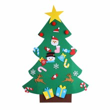 1pc New Year Gifts Kids Toys Christmas DIY Felt Xmas Tree Artificial Wall Hanging Ornaments Decoration