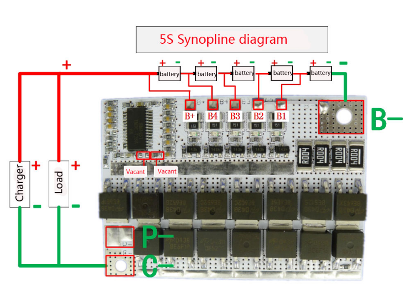18V 21V 100A 3S/4/5S BMS Ternary Lithium Battery Protection Circuit Board Li-POLYMER Balance Charging Board Module 6