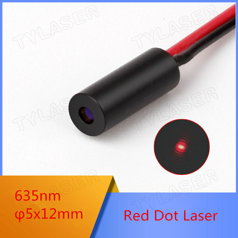 D5mm 635nm 0.5mW 1mW 5mW Red Dot Laser Module Industrial Grade APC Driver