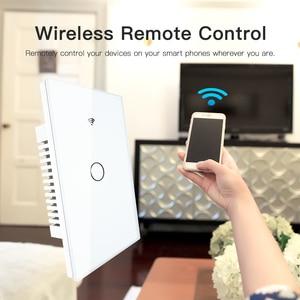 Image 4 - Rf433 wifi 스마트 벽 터치 스위치 없음 중립 와이어 필요 스마트 단일 와이어 벽 스위치 alexa google 홈 170 250 v 작동