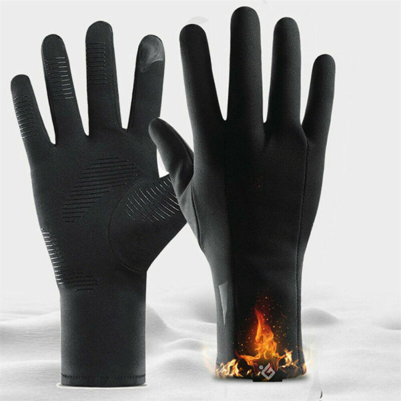 Popular Men Women's Winter Thermal Fleece Lined Warm Full Finger Gloves Touch Screen Hot  Cycling Gloves