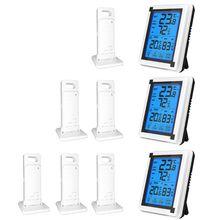 Сенсорный экран Беспроводная метеостанция ℃/Thermometer термометр гигрометр с 3 датчиком прогноза температуры и влажности