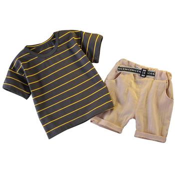 Moda niemowlę letnie ubrania chłopięce noworodka zestaw ubrań dla chłopców stroje kostium dla dzieci garnitur na zestawy ubrań dla niemowląt tanie i dobre opinie Summer S-M-L-XL Kids Clothing Sets Fashion Sets Children Clothing O-neck CHUNMU Drukuj REGULAR Krótki Swetry Płaszcz clothes for kids