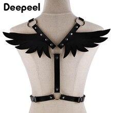 Deepeel/1 шт., талия 66-100 см, женские подтяжки из искусственной кожи, яркие цвета, ремень с крыльями, декоративный Готический ремень для женщин, подарок YK762