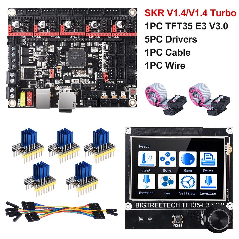 BIGTREETECH СКР V1.4 вгб СКР V1.4 Turbo 32 бит доска + TFT35 E3 V3.0 3D-принтеры Запчасти TMC2130 TMC2209 TMC2208 МКС сгэн L Ender3