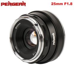 Pergear 25 Mm F1.8 Prime Lens Om Alle Enkele Serie Voor E Mount/Voor M4/3 Voor Fuji camera A7 A7II A7RII X-A2 G3 G2 Vs 7 Ambachtslieden