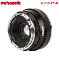 Pergear 25mm F1.8 Prime Lens to All Single Series for E Mount / for M4/3 for Fuji Cameras A7 A7II A7RII X-A2 G3 G2 VS 7artisans
