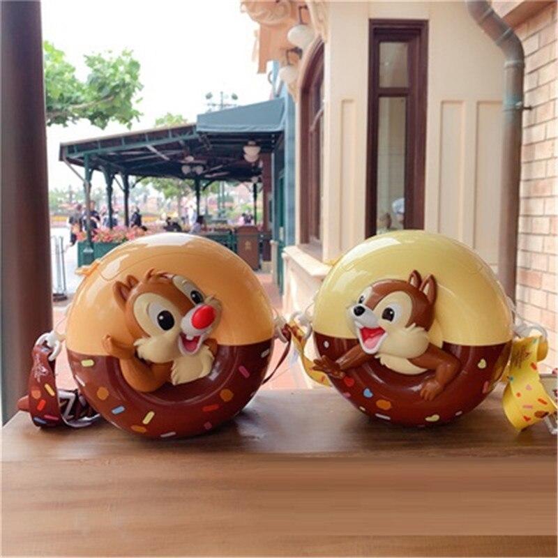 Shanghai Disneyland Park Chip And Dale Chipmunk Cartoon Stereoscopic Popcorn Bucket Children Birthday Gift X5832