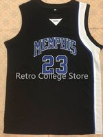 #23 Derrick Rose Memphis Tigers White Blue black mens Basketball Jersey Embroidery Stitched any Number and name