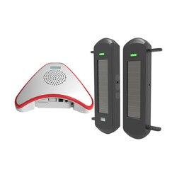 HTZSAFE Solar Wireless Auffahrt Alarm System- 1/2 Meile Langen Reichweite-300 Meter Breit Sensor Palette-Keine verdrahtung Keine Notwendigkeit Re