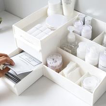 Pojemnik na kosmetyki nowe kosmetyki szuflada toaletka stojak do pielęgnacji skóry przenośny pojemnik do przechowywania telefon komórkowy rozmaitości wkładka tanie tanio Szuflady magazynowe HOK-1023 Ekologiczne Z tworzywa sztucznego Cosmetic storage box Nordic style Plastic PP Room White Storage of cosmetics