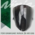 Новый ветровой экран на лобовое стекло с двойными пузырьками для Kawasaki NINJA ZX6R ZX-6R 636 2009- 2019 2018 2017 2016 2015 ветрозащитные дефлекторы экран