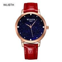Elegante mulher relógio céu estrelado luxo relógios de quartzo feminino luxo moda à prova dwaterproof água relógios esportivos femininos