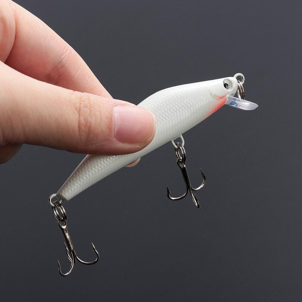 3D Fishing Lure Hook Night Luminous Bait Glow In The Dark Crank Bait 6cm 1Pc