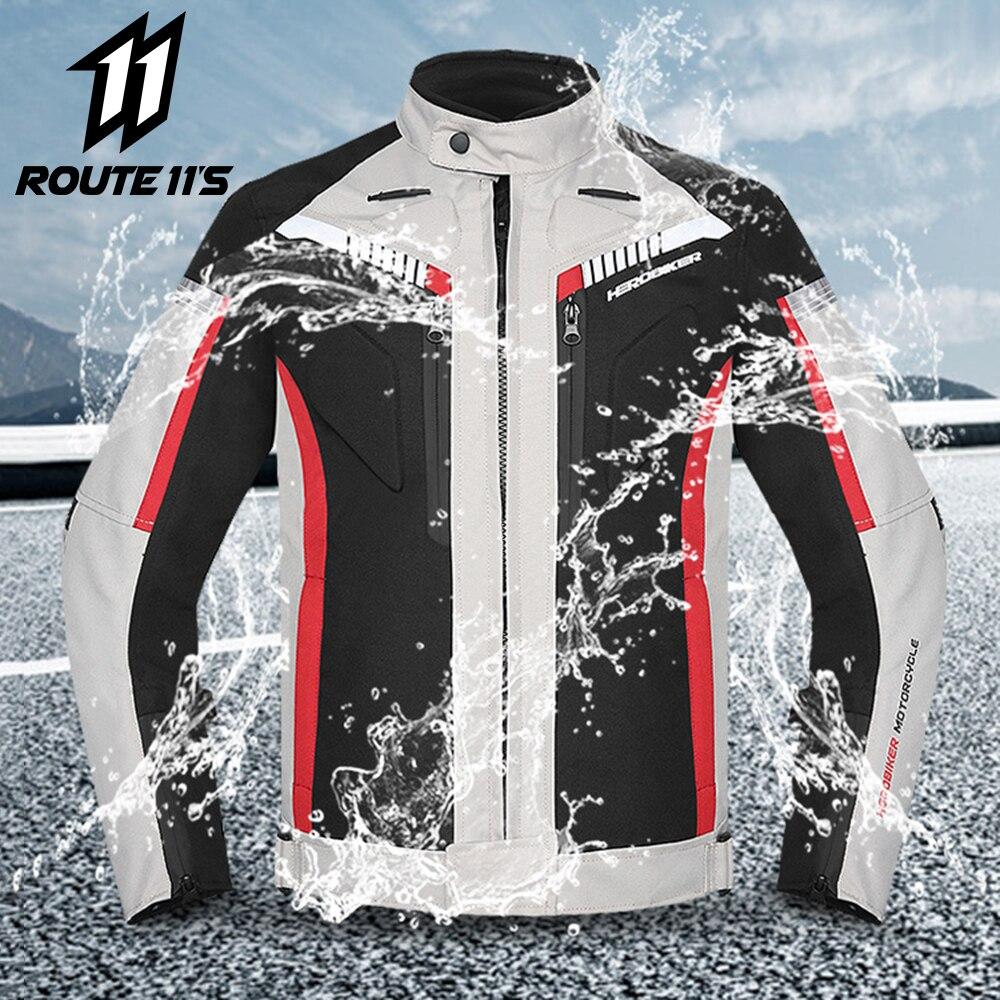 HEROBIKER Primavera Outono Revestimento Da Motocicleta Dos Homens À Prova D' Água À Prova de Vento de Equitação Jaqueta Moto Roupas de Corrida De Moto de Proteção Moto