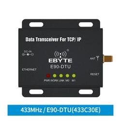Ethernet modbus 433 mhz 1 w iot tcxo E90-DTU-433C30E transmissão de dados do plc de longo alcance sem fio modem ethernet transceptor