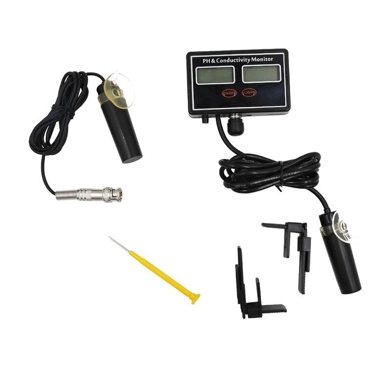 SHGO HOT-numérique PH & TDS conductivité mètre 2 en 1 sonde Rechargeable qualité de l'eau en temps réel Combo moniteur compteur testeur pour Aqu