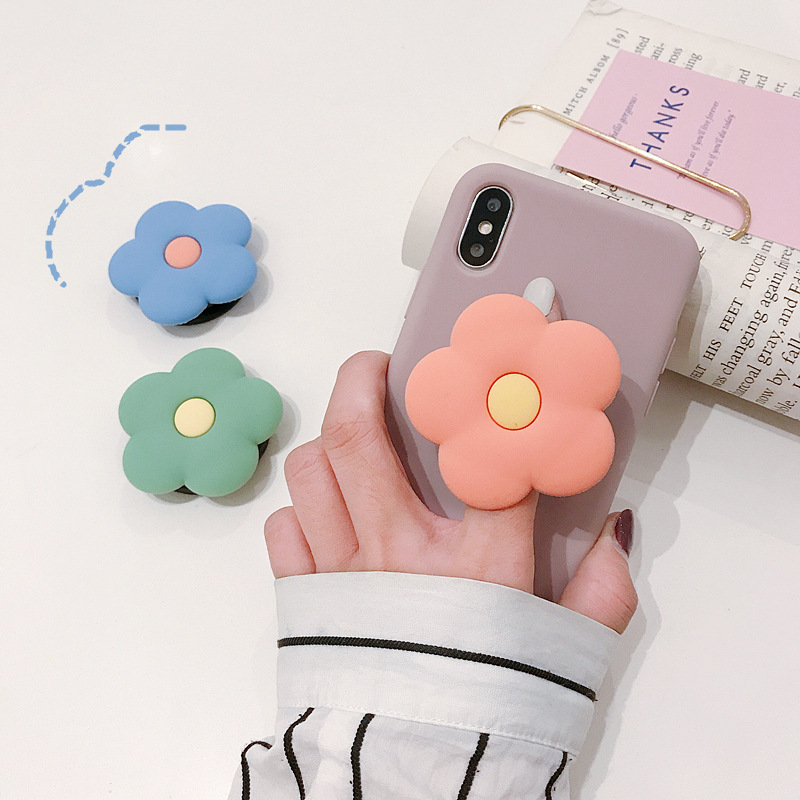 Original Flower Colored Phone Holder Foldable Tablet Stand Socket And Finger Fit Easy Grip Universal For IPhone 8 7 Plus Xiaomi