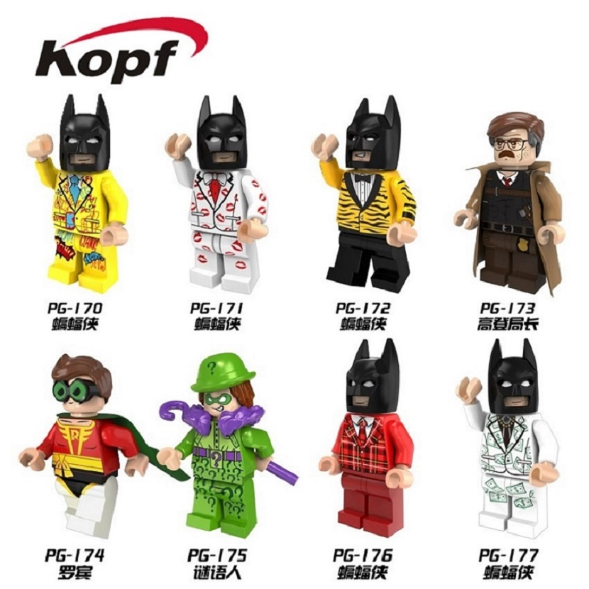 Building Blocks Super Heroes Legoinglys Legoed Classic Limited Tiger Batman Colorful Suit Series Gift Toys For Children  PG8046