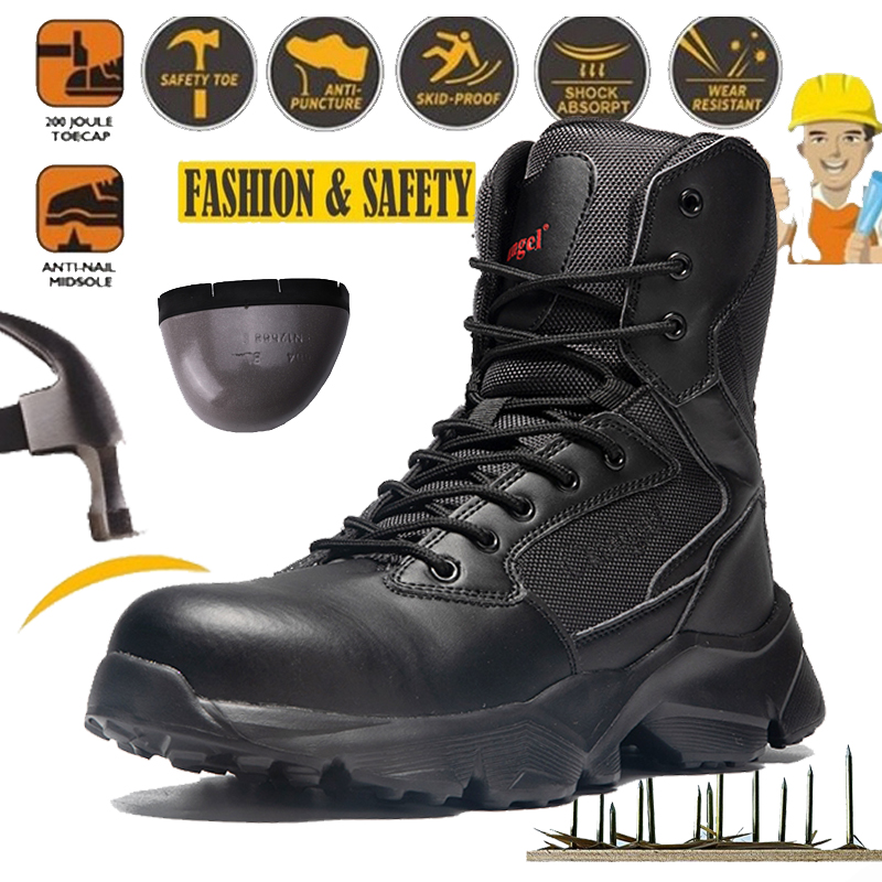 LARNMERN Steel Toe Cap Safety Shoes Men