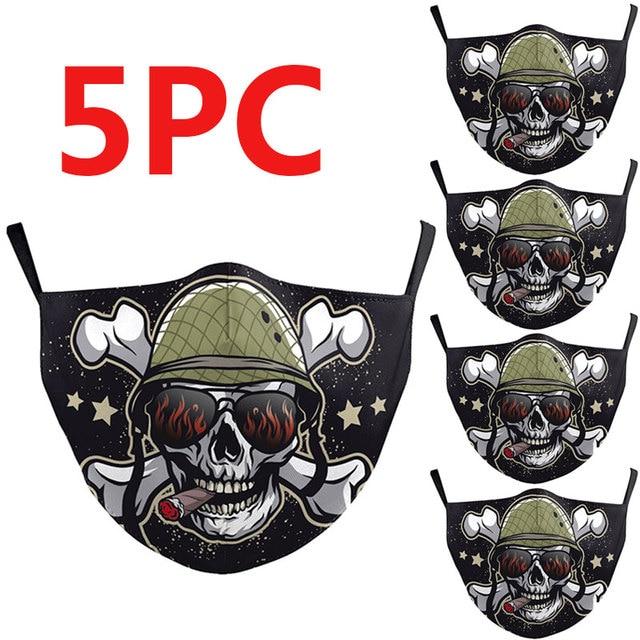 PM2.5 Washable Mouth Mask Women Men Anti Haze Dust Mask Nose Filter Face Muffle Bacteria Flu Respirator 4