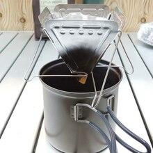 Rack Dripper-Holder COFFEE-FILTER Stainless-Steel Folding Camping Mini Outdoor Wear-Resistantfunnel