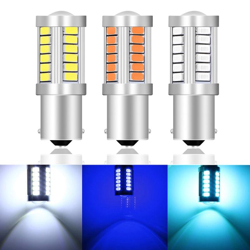 1156 1157 P21/5W BAY15D Super Bright 33 SMD 5630 5730 LED Brake Lights Fog Lamp 21/5w Car Daytime Running Light Stop Bulbs 12V