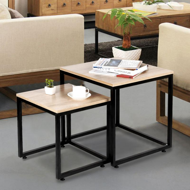 Coffee Table 50cm+40cm Cube Laminated Coffee Table Modern Style Household Furniture Set For Living Room Home Table HWC