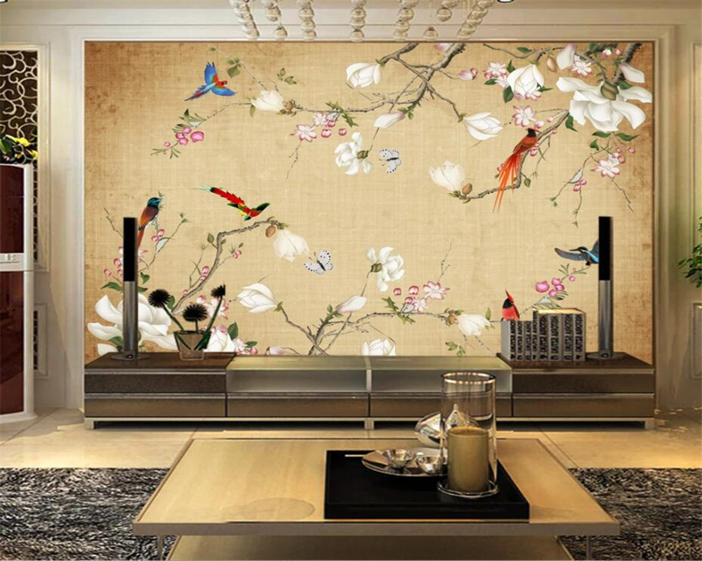 Beibehang Custom 3d Tapete Wandbild Mode Blume Vogel 3D Wohnzimmer Schlafzimmer TV Hintergrund Wand Foto Tapete für wände 3 d|wall photo wallpaper|3d wallpaperphoto wallpaper - AliExpress