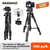 Trípode profesional de 67in para cámara, soporte para teléfono, de viaje, portátil, para cámaras Canon, Sony, Nikon