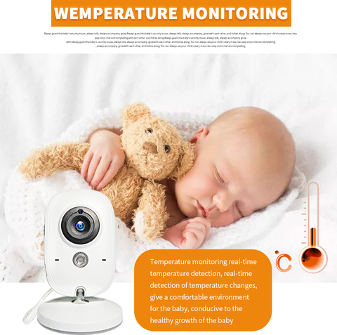 camera de seguranca night vision temperatura dormir monitor