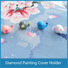 Multifunction Diamond Painting Tools Lovely Elephant Magnet Cover Minders for Parchment Paper Diamond Accessories