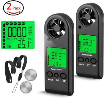 BTMETER BT-816B 2Pack Handheld Anemometer,Digital Wind Speed Meter Portable Anemometer Sensor Wind Speed Meter Air Flow Tester handheld digital anemometer wind speed meter air flow air velocity tester with bar graph bside eam02