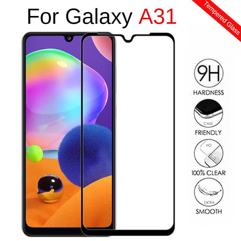 3D Samsun A31 Protective Glass For Samsung Galaxy A31 Screen Protector On The Samsan Galaxi A31 A 31 Tempered Glass Safety Films
