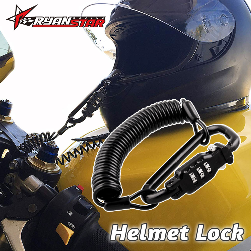 Motorcycle Helmet Lock Portable With Three-digit Anti-theftPassword Lock Secret PIN Code Fit For Universal