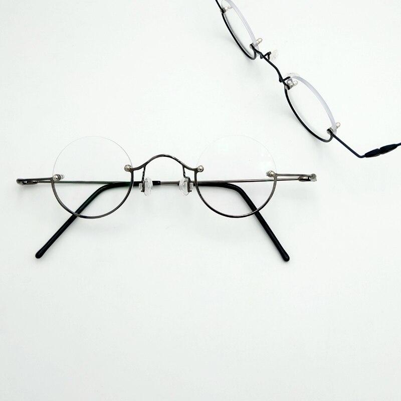 vintage round half rimmed reading glasses frame,Super small metal spectacle frames ,Myopia Optical Prescription Glasses ОЧКИ