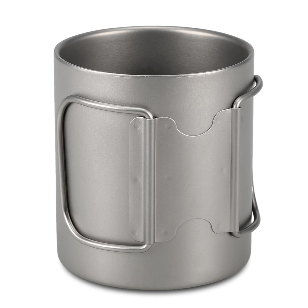 Lixada 220ml 450ml titanium duplo copo de