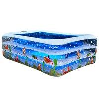 Summer Family Inflatable Swimming Pool Home Use Inflatable Bathtub Kids Summer Water Fun Play Swimming Pool Бассейн Каркасный
