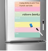 A4 磁気ホワイトボード冷蔵庫用マグネット毎週プランナー食料品リストメモ帳冷蔵庫マグネットホワイトボードメッセージボードシート